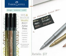 FABER-CASTELL USA 167350 PITT ARTIST PEN 1.5MM BULLET NIB METALLIC GOLD