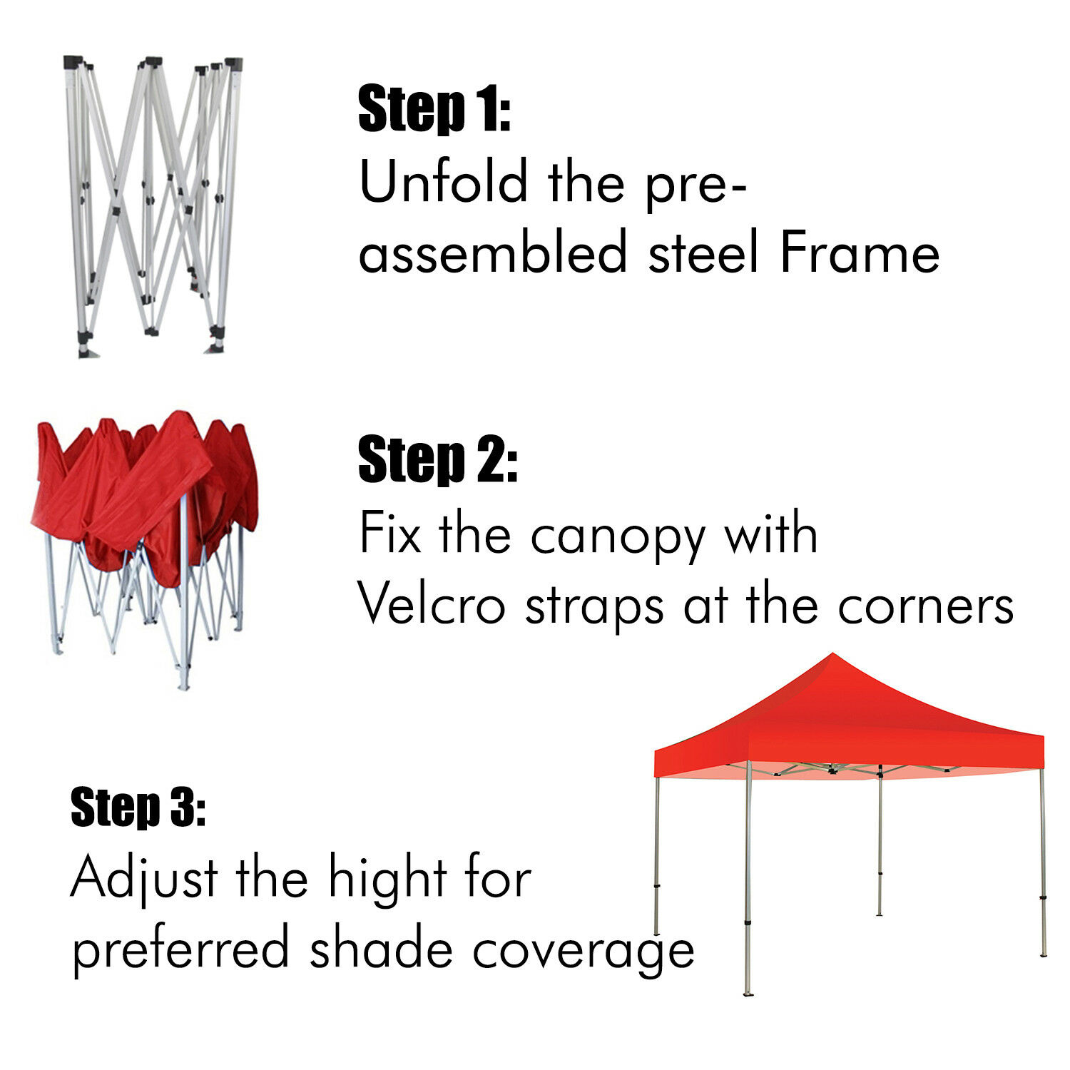 10'X10' Pop-Up Canopy Canopy Canopy Outdoor Patio Commercial Tent Folding Gazebo Canopies 79f290