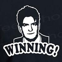 WINNING! Funny CHARLIE SHEEN drug rehab Crazy T-shirt