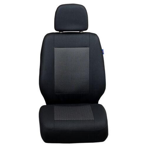 Schwarz-Graue Sitzbezüge für CiTROEN BERLINGO Autositzbezug VORNE FAHRERSITZ