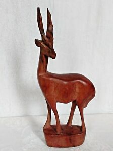 Hand-Carved-Wooden-Gazelle-Antelope-Made-in-Kenya-Africa-Genuine-Besmo-Product