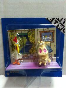 Cartoon network mucca e pollo mini personaggi cm ebay