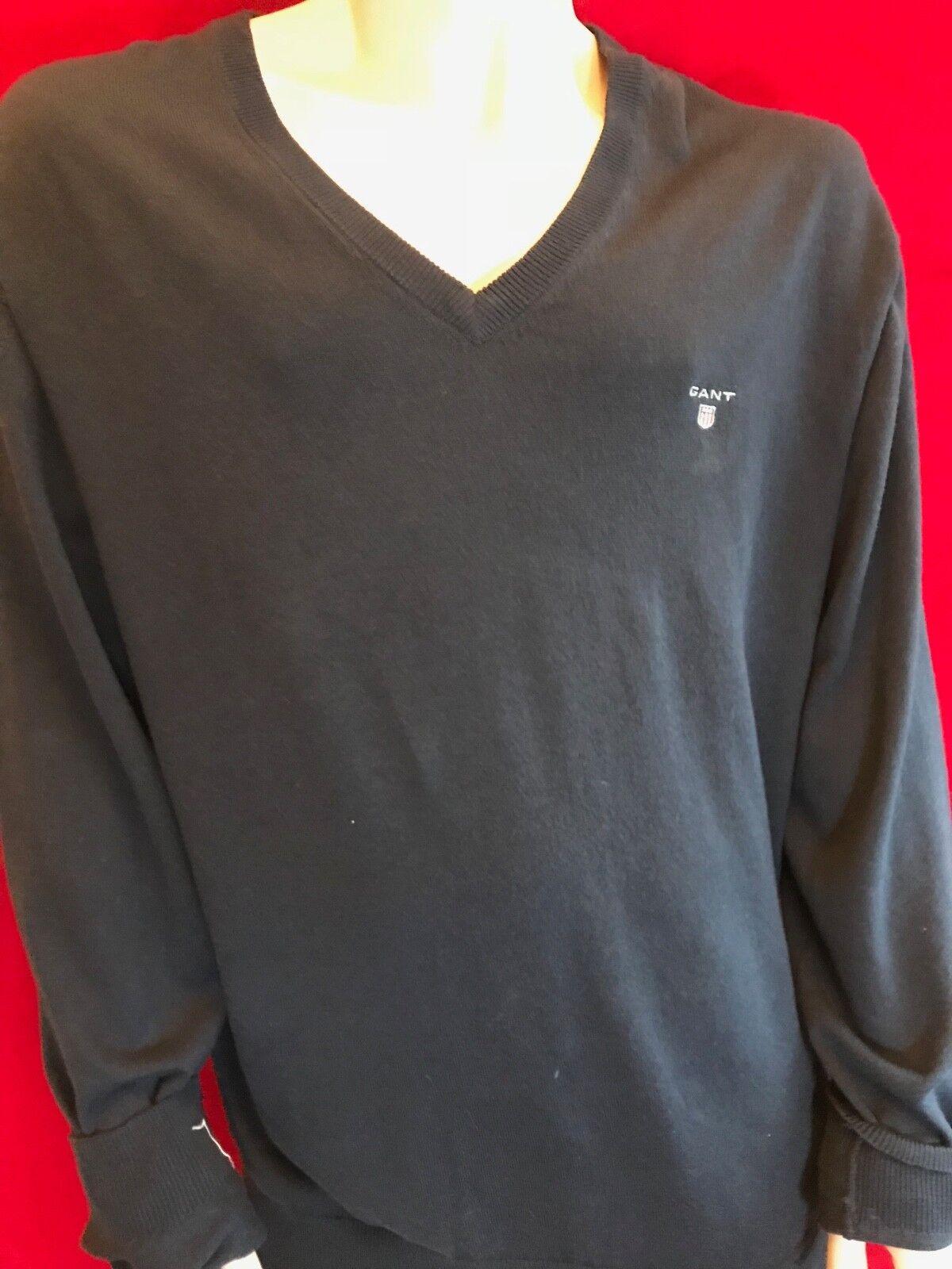 BNWT GANT Uomo Navy Cotone Idrofilo maglione maglione maglione taglia XXL idea regalo 893afe