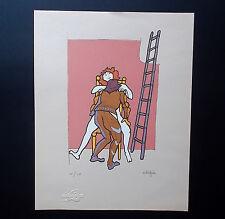 Litografia di CLIZIA (Mario Giani), serie limitata erotica RARA