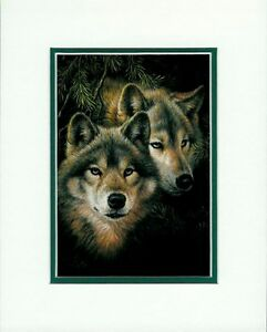 Timber Mates By Larry Fanning Wolf Wolves Wildlife Double