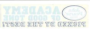 Sur De Soi Xl John Pearse Cordes Reverse Autocollant/autocollant-afficher Le Titre D'origine Prix Le Moins Cher De Notre Site