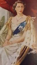 1953 Queen Elizabeth Coronation book and MS64 coin Rare set