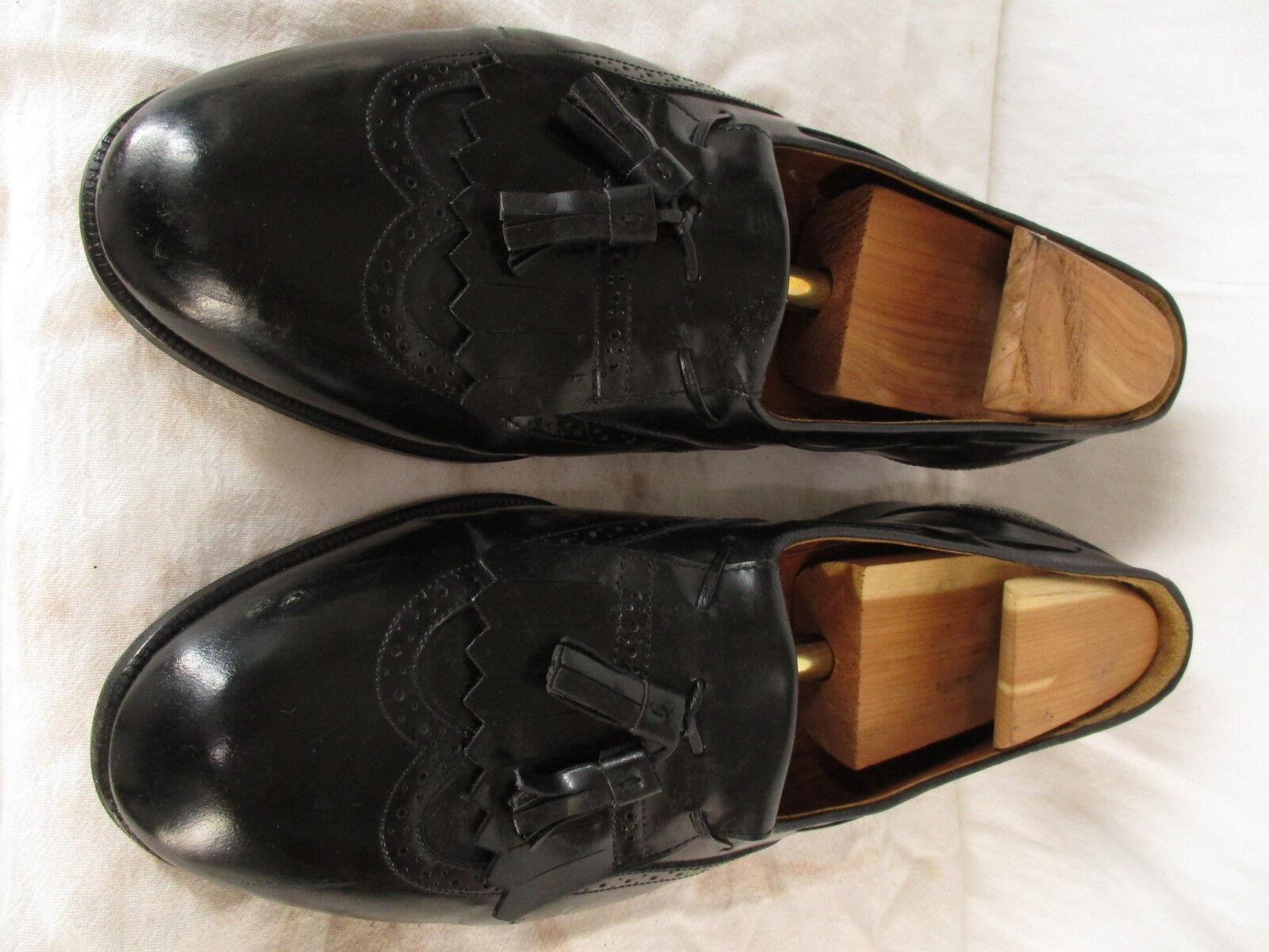 Churchs Prima Classe Mens Black Wingtip Tassel Loafers 11.5W  Made