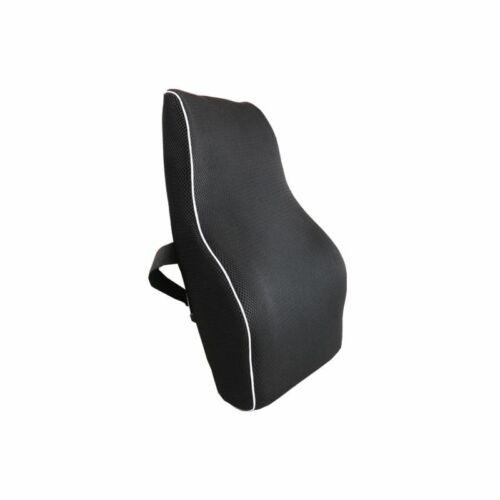 Cuscino Alto Supporto Lombare  Memory Foam Schienale Accessori Auto Nero sus