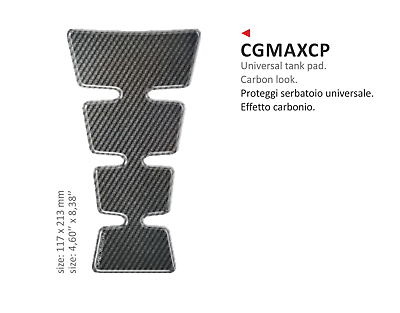 Cgmax Paraserbatoio Adesivo Resinato Carbon Look Per Tutte Le Moto Quad Atv
