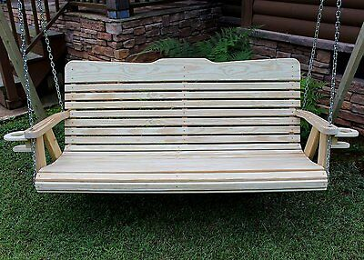 CLASSIC Amish Heavy Duty 700 Lb 5 ft.Porch Swing With Cup holders-Made In USA