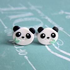 Piccolo SIMPATICO PANDA bear fatto a mano Ragazze Bambini Pasqua Regalo Kawaii Orecchini Jewelry