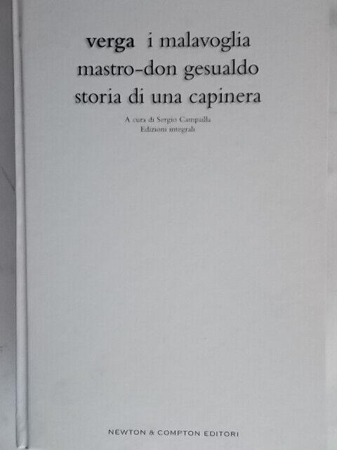I Malavoglia Mastro don Gesualdo Storia di una capineraVerga giuseppe rilegato