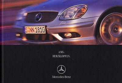 Car & Truck Manuals Sunny Mercedes Amg C32 E55 S55 Clk 55 Slk 32 G-klasse Prospekt Brochure Buch 2001 /58