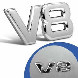Embleme-logo-3D-chrome-Logo-Voiture-Tuning-Sticker-V8