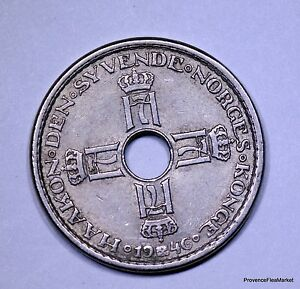 Norvege-Norway-1-krone-1946-cu-nickel-AC337