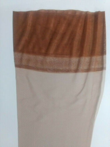 3 pairs Stockings Boxed Vintage Mesh Nylon Tan Brown Beige New Old Christmas