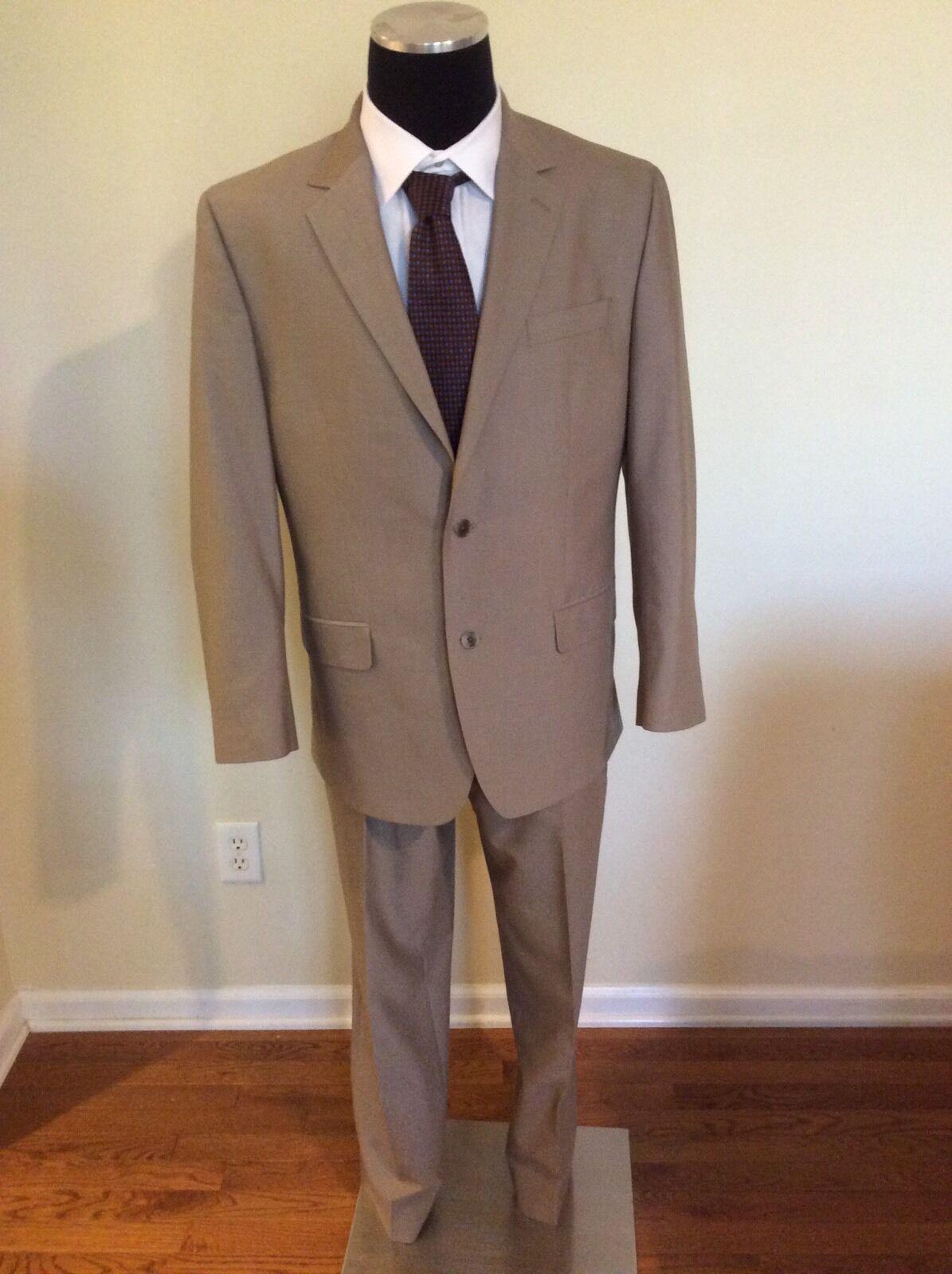 ANDREW FEZZA Signature Collection Men's Beige Two Button Suit