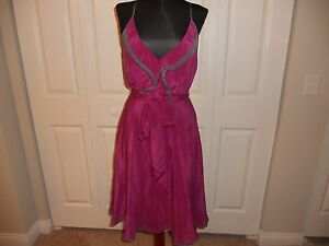 a896fe63dad01 NWT ANTHROPOLOGIE GIRLS FROM SAVOY GULL WING DRESS PLUM/PRUNE COMBO ...