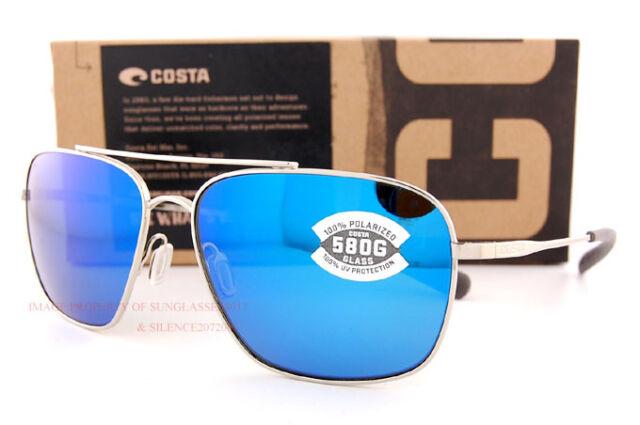 f1c47d1a437 New Costa Del Mar Sunglasses CANAVERAL Palladium Blue Mirror 580G Polarized