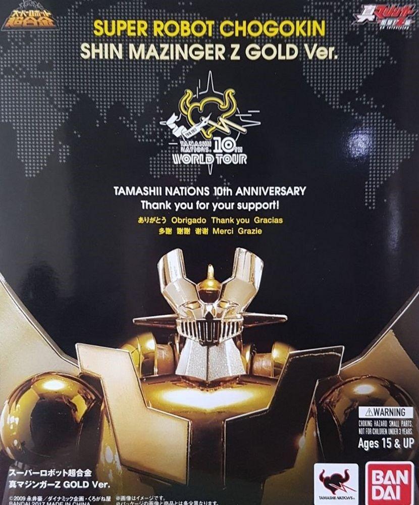 Mazinga Shin Mazinger Z Gold SRC Super Robot Chogokin Bandai Tamashii Tour 2017
