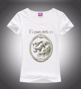 HORSE-amp-WESTERN-APPAREL-EQUESTRIAN-PRINT-LADIES-TEE-SHIRT-WHITE-LGE