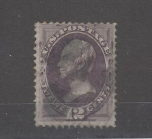 USA-1870-12c-Purple-Clay-SG153-Fine-Used-JK1007
