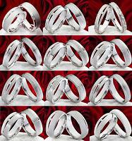 12 Verschiedene Eheringe Aus Silber Zur Auswahl Mit Echten Brillanten Ps12