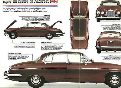 1965/1966/1967/1968 /1969/1970 Jaguar Mark X 10 / 420g Imp Brochure: 420 G