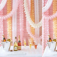 Birthday Wedding Party Paper Garland Hang Tissue Clover Strings Romantic Decor