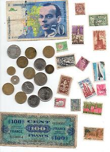 50-frs-Saint-Exupery-billet-liberation-15-pieces-15-timbres
