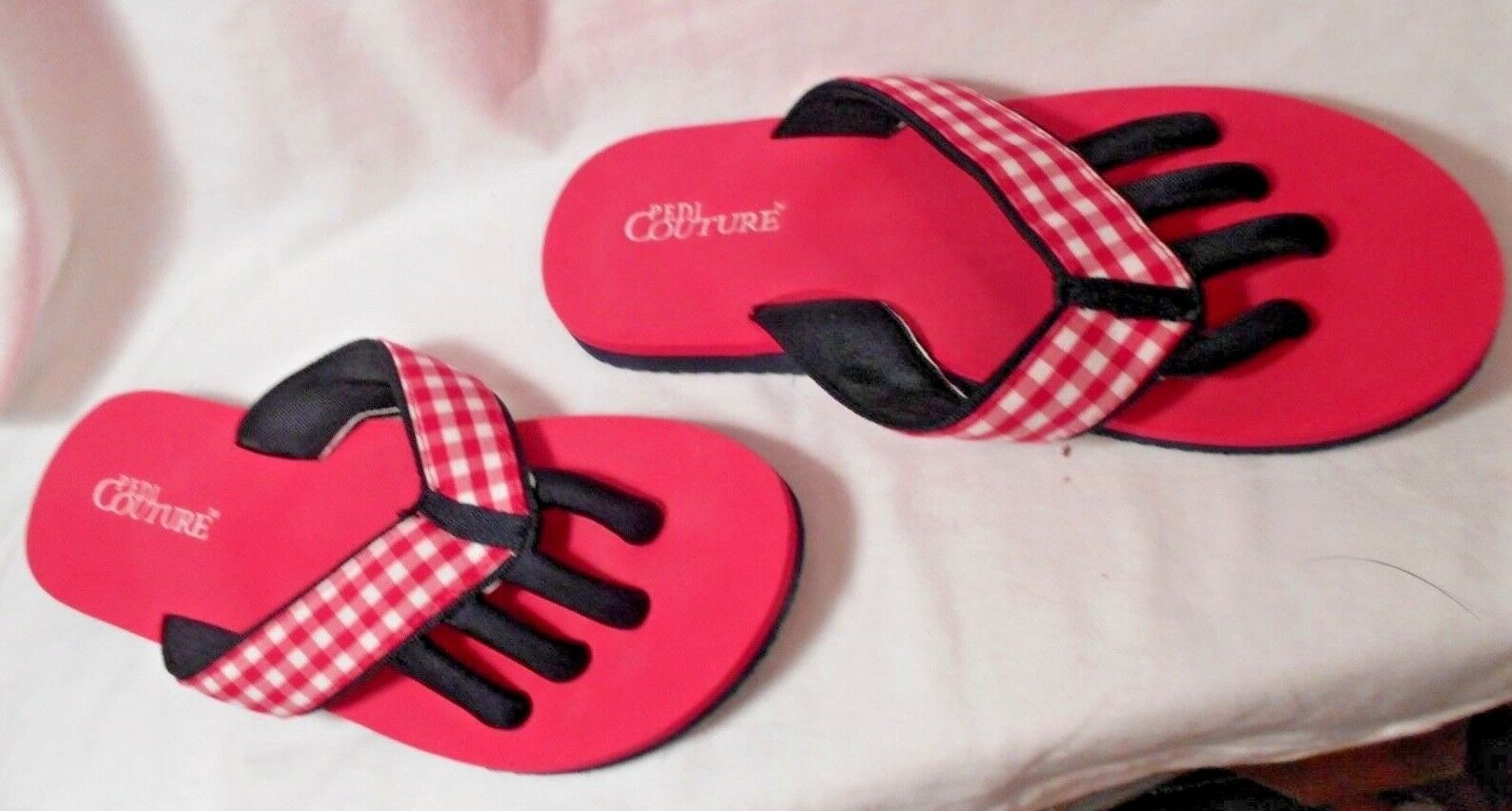 Pedi Couture Pink Navy & Navy Pink Blue Flip Flop Sz sole 10