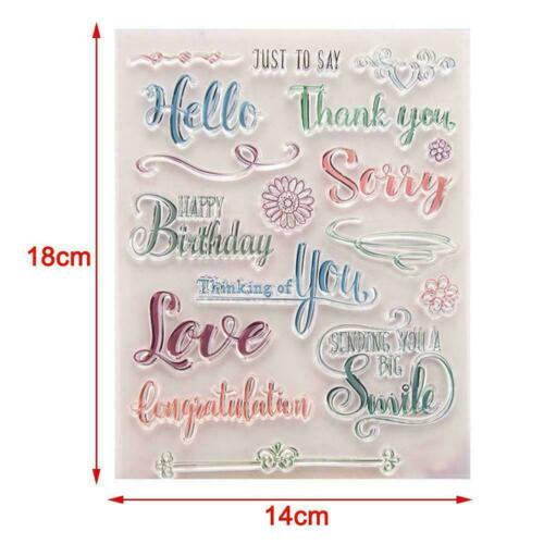 Thank You Clear Silicone Rubber Seal Stamp For DIY NW Card Scrapbooking K4M8