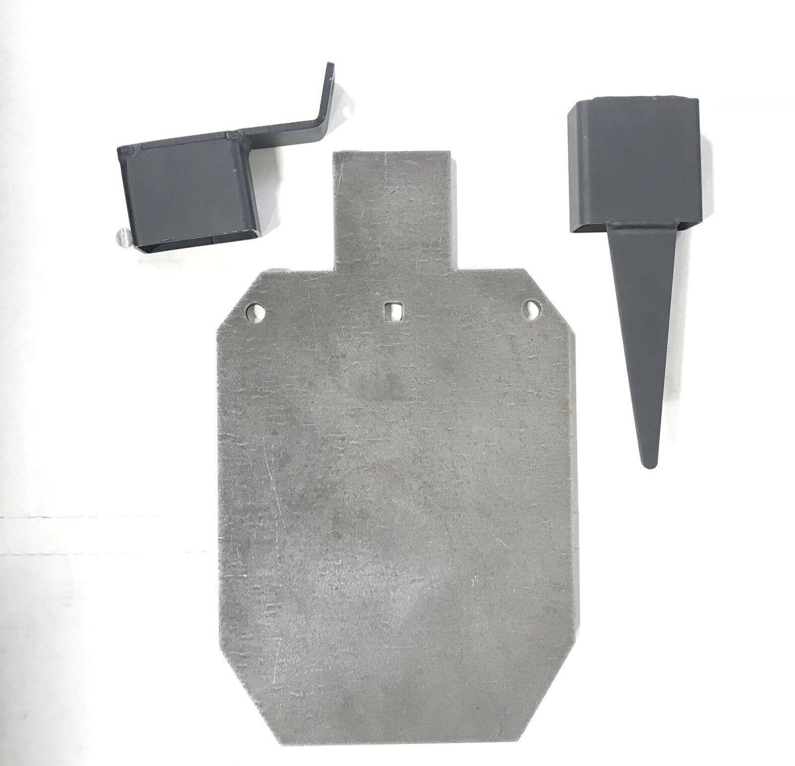 """AR500 2 3 IDPA 3 8""""X 12""""X 20  montaje de destino de acero silueta Base Combinación Paquete"""