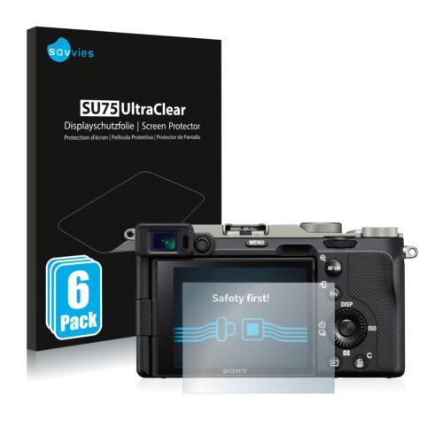 6x protector de pantalla para Sony Alpha 7c claramente recubrimiento protector protector de pantalla