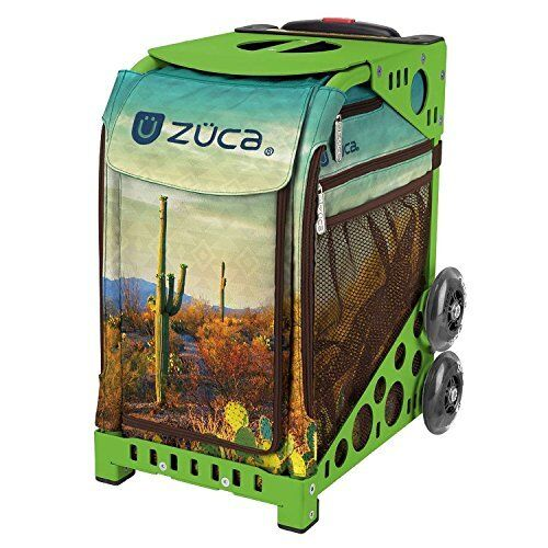 Zuca Cacti Insert Bag & Green Frame with Flashing Wheels