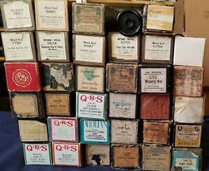 35 Vintage Player Piano Word Roll Lot-afficher Le Titre D'origine