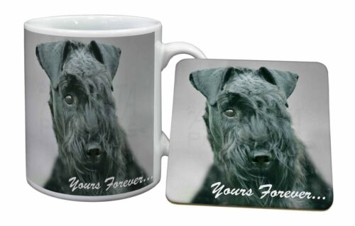 Kerry Blue Terrier 'Yours Forever' Mug+Coaster ChristmasBirthday Gif, ADKB1yMC