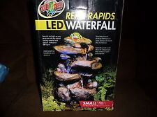 ZOO MED Repti Rapids LED NATURAL LOOK ROCK WATERFALL Reptile Small 7.25X5.5X11