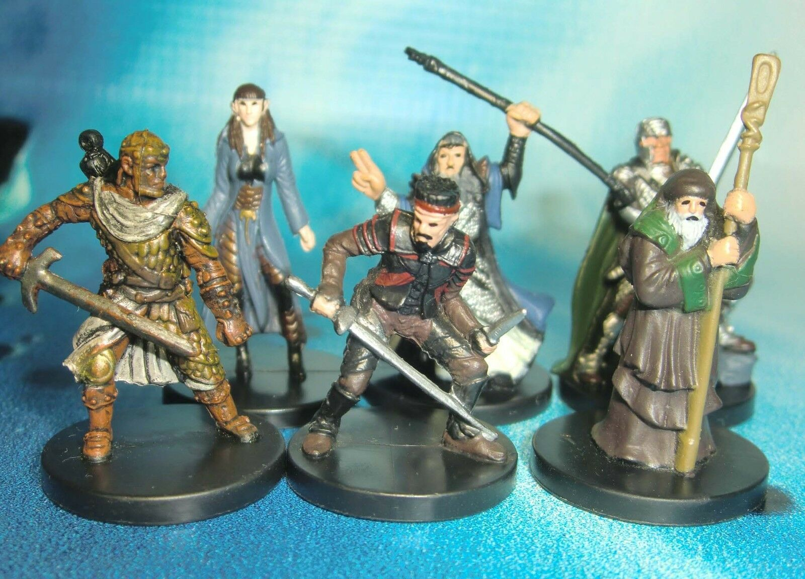 Dungeons & Dragons Miniatures Lot  Player Character Party Balanced     s116