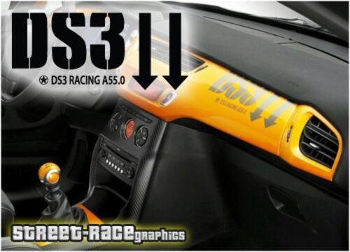 Citroen DS3 interior dashboard graphic sticker decal
