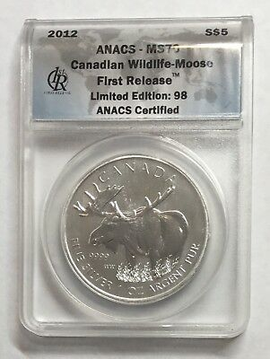 2015 Canada Silver $5 Canadian Red Tailed Hawk ANACS MS-70 DCAM FR