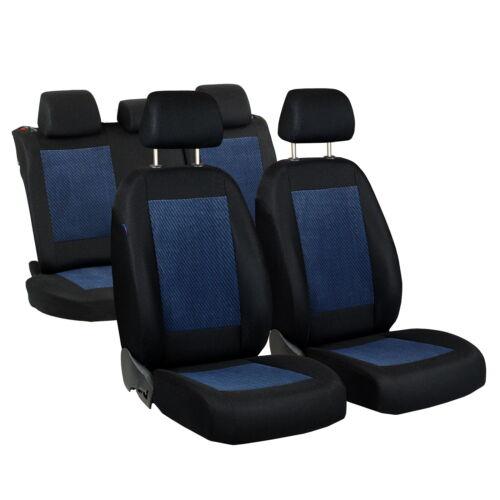 NERO-Blu Coprisedili In Velour per FIAT PANDA AUTO COPRISEDILE COMPLETO