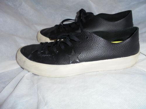 Zapatillas cordones Uk 8 con Converse de cuero 10 zapatillas deporte Eu Us 41 de negro Talla 5 rnqPr0Cx