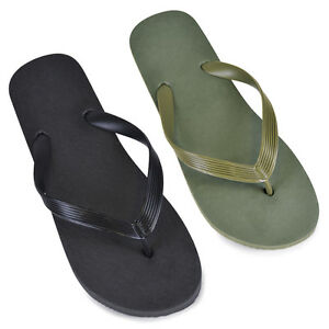 0f5cae800 Image is loading Mens-Plain-Print-Flip-Flops