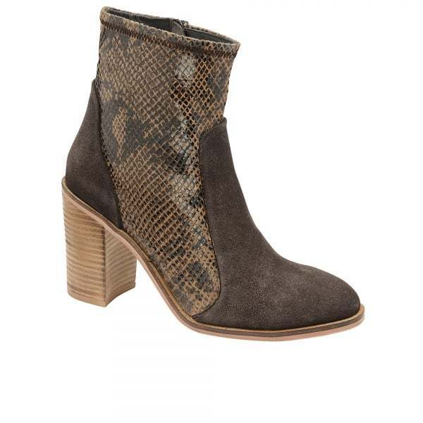 Ladies Ravel Northport Suede Leather Animal Animal Animal Print Mid Heel Western Ankle Boots 6439af