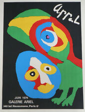 "KAREL APPEL  ORIGINAL STONE SIGNED LITHOGRAPH  ""ARIEL"" 1974 EXCELLENT  COND."