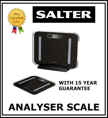 Salter Black STOW AWEIGH Analyser Bathroom Scale 9147