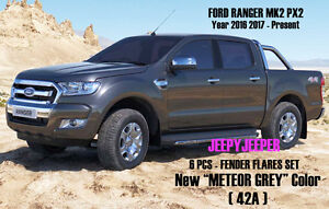 Image Is Loading METEOR GREY 42A FENDER FLARES SET For Ford