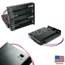 4 x AA 6V Battery Holder Connector Storage Case Box ON/OFF Switch For Arduino
